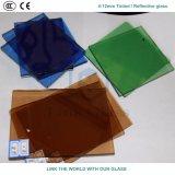 glace r3fléchissante vert-bleu grise en bronze de 12mm avec du ce et ISO9001 pour le guichet en verre