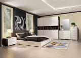 Mobília de quarto de apartamento de madeira moderna barata (SZ-BF053)