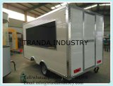 Gas BBQ Food Truck Display Venda de alimentos Car Canteen Mobile Cart