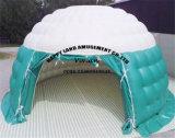 Tenda di campeggio gonfiabile esterna della cupola di colore bianco