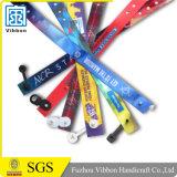 Изготовленный на заказ Wristband сатинировки подарка промотирования с различными зажимами