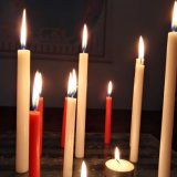Velas blancas religiosas al por mayor a granel de los fieltros y de los palillos