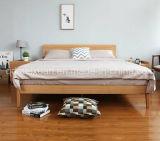 固体木のベッドの現代ダブル・ベッド(M-X2335)