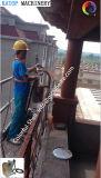 Funcionamiento en sitio del pintado con pistola de piedra verdadero de la masilla del cemento del mortero de la máquina del aerosol