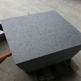 판매 건설물자 자연적인 돌 절대적인 까만 화강암 석판 가격