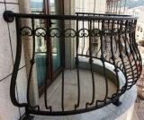 Carril galvanizado caliente simple elegante del hierro labrado