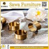 O anel de guardanapo do metal, forma prata barata anéis de guardanapo chapeados