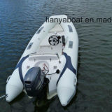 Ce inflable del barco de goma del barco del barco externo de la costilla de Liya los 380cm