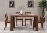 Ensemble dinant en bois de vente chaud de modèle gentil fait par un Tableau avec quatre chaises (M-X1115)