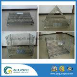 Складная зацепленная стальная клетка хранения /Rolling паллета 1000*800*850