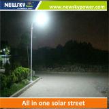 電池の太陽電池パネルが付いている統合された90W LEDの太陽街灯