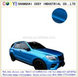 空気泡青い無光沢のクロムビニールの熱カラー変更のビニールが付いている新製品1.52*20m