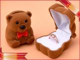 Precioso Cuadro de anillo anillo de la caja de terciopelo de joyería caja de embalaje