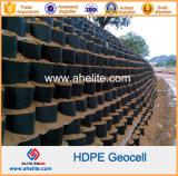 De textura suave plástico HDPE Geocell perforada para muro