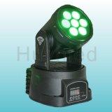 熱い小型LEDの移動頭部7PCS 8W LEDの移動ヘッド洗浄結婚式の装飾