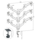 Gasheber-Tischplattenmontierung (LCD 3006)