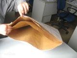 Bolsa de papel de Kraft de la maneta 80GSM para el alimento, ropa, haciendo compras