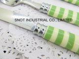 cuillère en plastique de couteau de fourche de couverts de traitement de l'Impression-Configuration 24PCS
