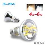 Bulbo del filamento de la luz 4W 6W R63 LED de la lámpara de E27 LED