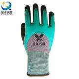 gants à couche double des nitriles 15gague, gants de nitriles de Sandy, gants de résistance de pétrole,