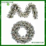 Corona di Natale affollata nuovo stile con le luci (W12100011LW)