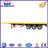 Fábrica de China 3 Ejes Contenedor de superficie plana de 40 pies Trailer de venta