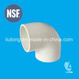 Encaixe plástico padrão de ASTM Sch40 D2466 (PVC) para a água da fonte com certificado do NSF