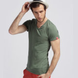 Commerce de gros Quatity vierge ordinaire col rond Coton T-Shirt pour hommes (xy20230)