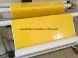 노란 두 배 편들어진 조직 자수 테이프 또는 자수 테이프