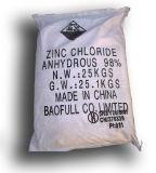 Rang van de batterij gebruikte Chloride van het Zink van 98%Min het Vochtvrije