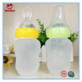 Garrafa de alimentação de 6 oz para bebês com colher grande e macia