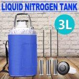 Dewar criogénico del tanque del envase Ln2 del nitrógeno líquido 3L