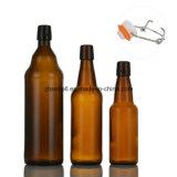 frasco de cerveja 1L de vidro com tampão da aleta