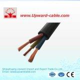 Cavo di controllo isolato XLPE flessibile elettrico di rame della gomma del PVC