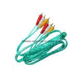 Color blu Transparent 3r-3r/3RCA/RCA Cable con Al Foil