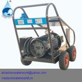 Producto de limpieza de discos de alta presión con las ruedas de goma y el marco plegable