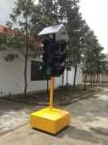 높은 발광성 4 측 태양 휴대용 신호등