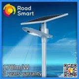 luz de rua solar ao ar livre da estrada do diodo emissor de luz 180lm/W com sensor de movimento