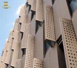 Décoration extérieure façade en aluminium panneau perforé
