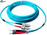 Cabo frente e verso quente da fibra óptica da conexão da informação do Sc-St Om3 milímetro das vendas