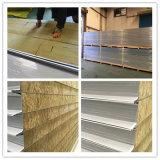 El panel de emparedado de acero incombustible aislado modificado para requisitos particulares de las lanas de roca