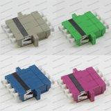 4c de Symmetrische Adapter van de Optische Vezel LC Sm/mm/APC/Om3/Om4 met Oor