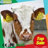 TPU + marque d'oreille animale en nylon de l'IDENTIFICATION RF 134.2kHz EM4305