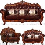 ホーム家具(619D)のための木のソファーフレームとセットされるソファー