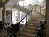 Carriles de aluminio de lujo de la escalera del Decking con el carril de mano de cristal seguro claro