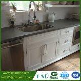 De grijze Kunstmatige Steen van het Kwarts voor Countertop van de Keuken