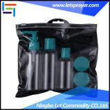 stellte kosmetische Haustier-Lotion-Flasche des Arbeitsweg-4PCS mit Belüftung-Beutel ein