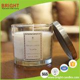 Le candele di lusso della cera della soia della fabbrica della Cina hanno sentito con il vaso di vetro personalizzato