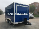 Caminhão móvel do alimento da cafetaria do carro do alimento da rua do Vending de Fooding com Ce