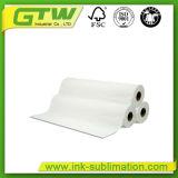 100つのGSMの織物印刷のための速い乾燥した昇華ペーパーをカールしなさい
